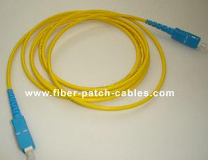 SC to SC single mode simplex fiber optic patch cable